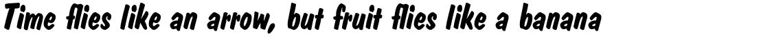 Dom Casual Bold Italic
